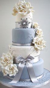Blue & White Floral Cake      ᘡղᘠ