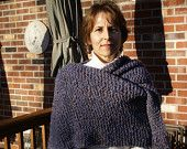 Denim Knit Shawl with Fringe    https://www.etsy.com/listing/87244302/knit-westport-denim-shawl-with-fringe