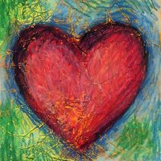 Art Projects for Kids - Lots of Projects by artist or grade - Jim Dine Textured Heart