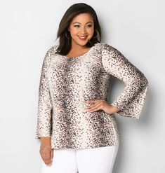 Shop more favorites styles like the plus size Speckle Bell Sleeve Blouse available in sizes 14-32 at avenue.com. Avenue Store