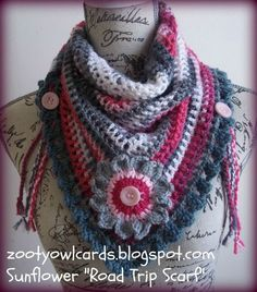 triangle scarf, granny triangle scarf, crochet scarf