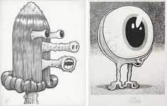 I love the comic book artist Basil Wolverton, his illustrations are the weirdest of the weird.