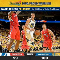 Off to game 7! Lets do this Warriors!!! #playoffs2014