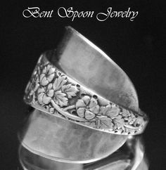 Spoon Ring Vintage Swedish Floral Whole Spoon by Bentspoonjewelry, $39.00