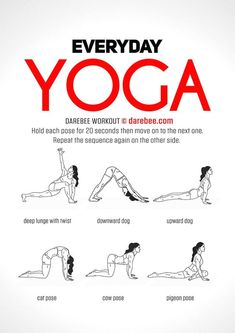Find the best Yoga workouts, inspiration for new poses for the whole body that give you flexibility and strength. Ideas for beginners and advanced Yoga lovers, no matter if you are looking for weight loss, nice abs or just new fitness exercises. Yoga Fitness, Circuit Fitness, Fitness Tips, Fitness Motivation, Health Fitness, Workout Fitness, Workout Wear, Yoga Routine, Yoga Inspiration