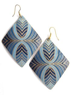Blue Crush earrings - elegant unique fair trade earrings from india