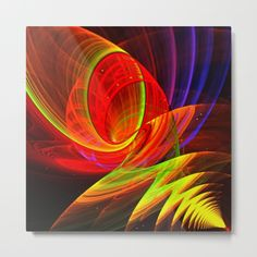 Power Point, modern abstract art Metal Print