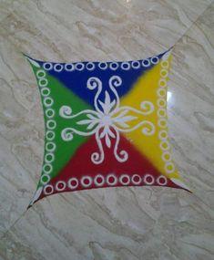 Easy Rangoli Designs for Holi