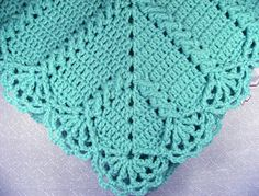 PDF Pattern Crocheted Baby Afghan, CAR SEAT Size and Newborn Size Blanket -- Granny Twist