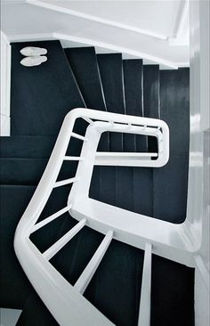 Black and White staircase.
