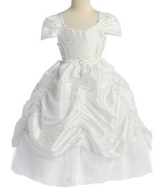 Another great find on #zulily! White Sequin Pickup Dress - Toddler & Girls #zulilyfinds