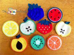 Posavasos frutas felt/fieltro
