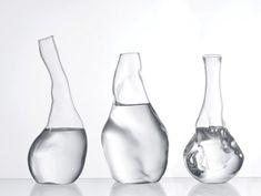 Haushalt Waren Design Glas-verspielte Form trasparente Karaffen-Set andreas trenker