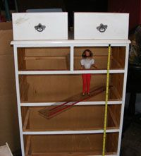 How to build a Barbie Doll house from a wood dresser