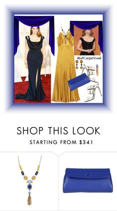 """Golden Globe Nominee Jessica Chastain's Red Carpet Look"" by peeweevaaz ❤ liked on Polyvore featuring Chloe + Isabel, Fendi, polyvoreeditorial, redcarpetlook, polyvorefashion and 60secondstyle"