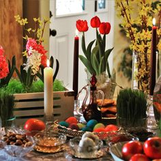 A table of 7 S's in Iranian culture 🌾🐟🍎 Sabzeh. Butter Flavored Crisco, Light Golden Brown, Piping Tips, Spiral Pattern, First Day Of Spring, Kurdistan, First Photograph, Iranian, Serving Platters