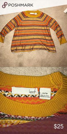 Pattern kersh sweater Multiple patterned sweater Kersh Sweaters Crew & Scoop Necks