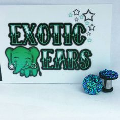 blue and green druzzy plugs blue and green druzy by ExoticEars