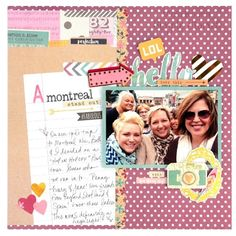 Design team member @vickiboutin shows how fantastic our #SoFancy collection can be for documenting fun with friends!!