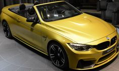 Austin Yellow BMW M4 Cabrio