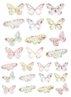Free Printable Vintage butterfly tags - would be so pretty on kraft paper packages