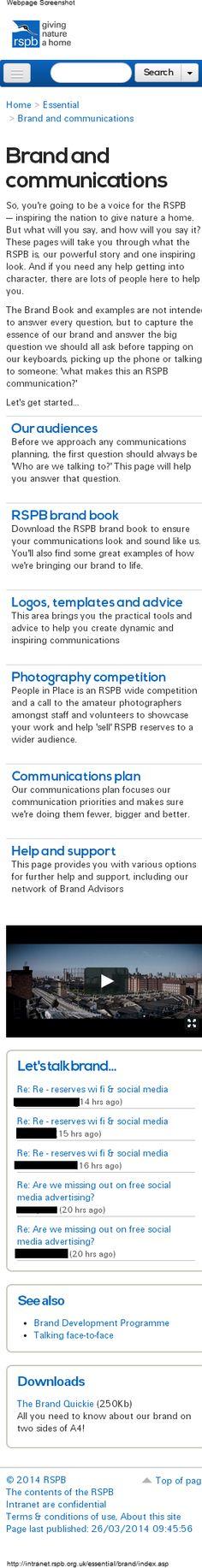 RSPB Intranet - responsive design Part Mobile view Intranet Design, Screen Shot, Public, Content, Education, Inspiration, Biblical Inspiration, Onderwijs, Learning