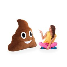 Can you handle 42 inches of poop plush? Giant poop emoji pillow!!