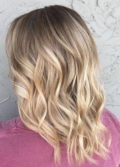 Best Hair Color Ideas 2017 / 2018 blonde root melt