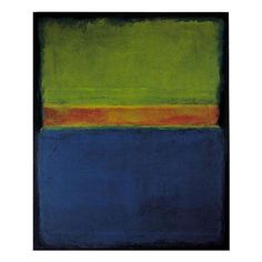 ptk:    Mark Rothko (American, September 25, 1903 - 1970).  No. 2 [Blue, Red, and Green].  Oil on canvas. Signed and dated 1953en verso.