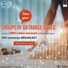 View your Groups of database saved on your SMS online account to add or remove numbers from your database ! Email: sales@broadnet.me Lebanon Branch :+961-1-366-490/1/2 #BroadnetTechnologies #SMSsolution #Digitalmarketing #sms #bulksms #Lebanon #Beirut