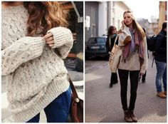7.Oversized Sweater | Community Post: 23 Clothing Items Every College Girl Should Own The first one mot the second.