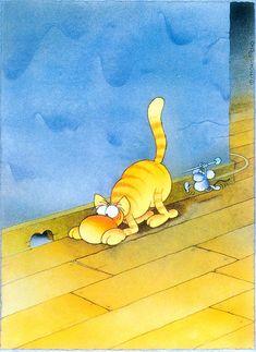 The Exhibition of Cartoon / Mordillo / Argentina :: Cartoon Jokes, Funny Cartoons, Funny Comics, Satirical Illustrations, Humor Grafico, Cute Illustration, Cat Love, Graphic, Love Art