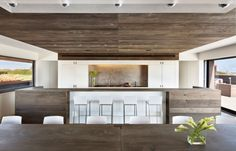 Sensational Contemporary Residence Inspiration: Naturally Sagaponack Home Design Interior With Modern Kitchen And Dining Design Used Wooden ...