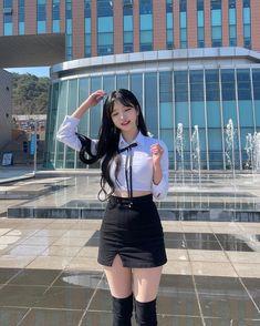 Cute Korean Girl, Cute Asian Girls, Beautiful Asian Girls, Jung So Min, Asian Fashion, Girl Fashion, Female Pose Reference, Lit Outfits, Uzzlang Girl