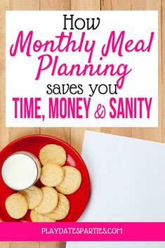I've been monthly meal planning for the better part of four years and have no plans to stop. Find out how why it's been a total game-changer for our family's time and sanity. #mealplanning #organization https://playdatesparties.com/why-monthly-meal-planning/