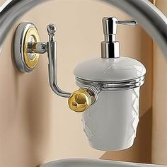 Nameeks 623 C Queen Wall Mounted Ceramic Liquid Soap Dispenser With Chrome