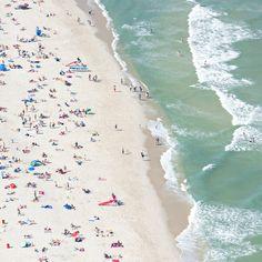 Seaside Heights I  Canvas Print  Aerial Beach by ClaudiaChloePhoto