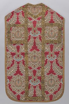 Chasuble    Date:      17th century  Geography:      Turkey  Medium:      Silk, metal wrapped thread; lampas (kemha)