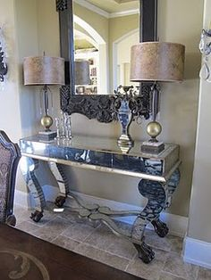 Mirrored console in my dining room