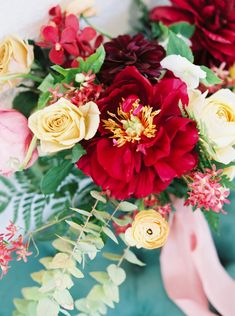 2829 best wedding flowers images on pinterest the happiest most colorful boho chic wedding weve ever seen with bright red junglespirit Gallery