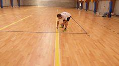 Il momento delle nuove #tracciature per l'impianto di Trecate che ospiterà partite ed allenamenti dell'Agil #Volley