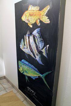 chalkboard art. Love these fish!