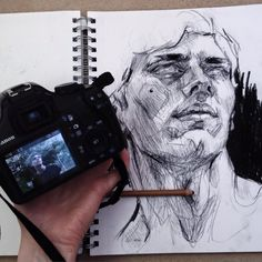 Sketching when you travel without a laptop Elly Smallwood, Ariana Grande Drawings, Draw On Photos, Portrait Sketches, Painting People, Elements Of Art, Life Drawing, Pretty Art, Traditional Art