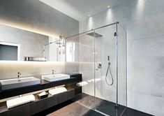 Modern Bathroom - Lighting by John Cullen Lighting Eco Bathroom, Bathroom Shop, Relaxing Bathroom, Ideal Bathrooms, Modern Bathroom, Bathroom Ideas, Bathtub Ideas, Cool Lighting, Lighting Design