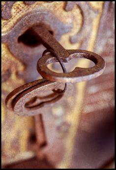 Rusty old keys.