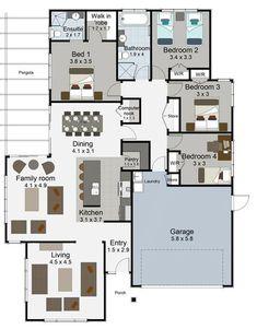 tempo 4 bedroom house plan landmark homes builders nz - House Plans Landmark Homes New Zealand