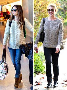 wearing a Gerard Darel sweater