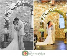 Greg & Kelsey's wedding at Historic 1625 in Tacoma by local Tacoma Wedding Photographer, Rebecca Anne Photography. #weddingceremony #arch #weddingarch #weddingdecor