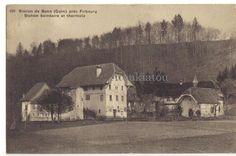 1914. Station de Bonn.Guin.  Près de Fribourg. Suisse? Ancienne carte postale. Vintage postcard.