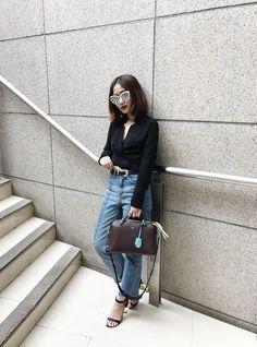 Leonie Leong - Wilfred Blouse, Senso Heels, Fendi Bag, Pomelo Jeans, Asos Belt, Quay Sunglasses - SILENT NOISES   LOOKBOOK